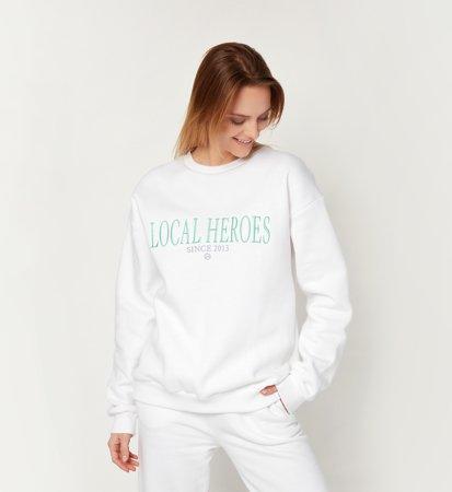 Bluza Local Heroes 2013 Sweatshirt White Odziez Bluzy Damskie Panpablo Pl