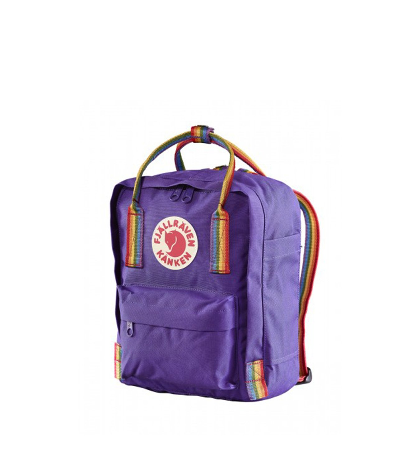 562905ea4b2 Fjallraven Kanken Rainbow Mini Purple Rainbow Kliknij, aby powiększyć ...