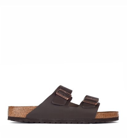 Birkenstock Arizona Dark Brown Natural Leather Regular