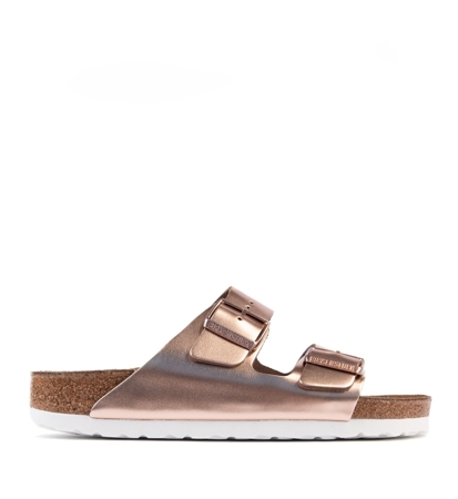 Birkenstock Arizona Metallic Copper Regular Damskie