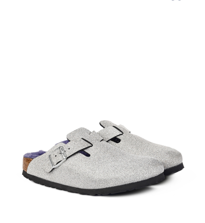 Birkenstock Boston BF Glitter Dust Silver Narrow