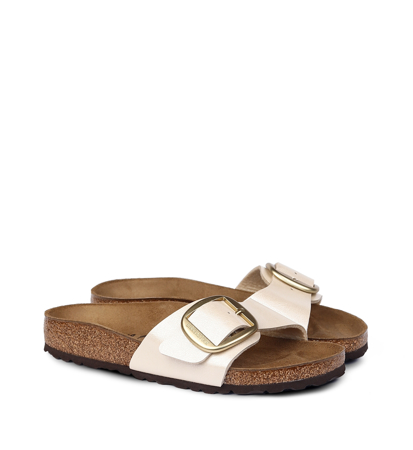 Birkenstock Madrid Big Buckle BF Graceful Pearl White Narrow