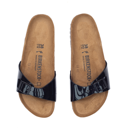Birkenstock Madrid Patent Black Narrow