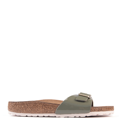 Birkenstock Madrid Patent Khaki Narrow