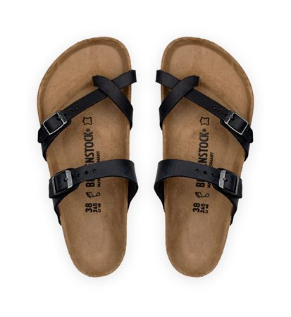 Birkenstock Mayari Nubuck Oiled Black Regular