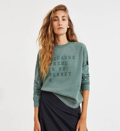 Bluza Damska Ecoalf Cervino Sweatshirt Green Shadow