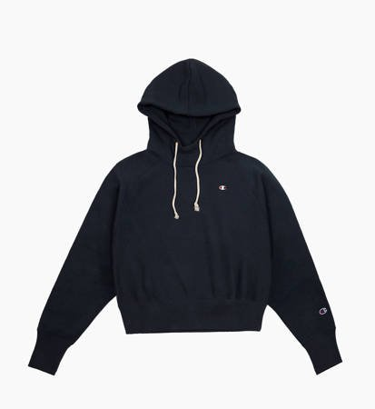 Bluza damska z kapturem Champion Hooded Sweatshirt Cropped Navy