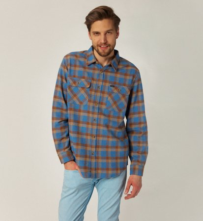 Brixton Bowery Flannel River Blue