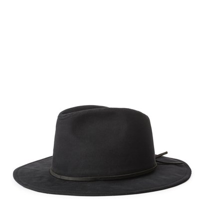 Brixton Wesley Cotton Fedora Black