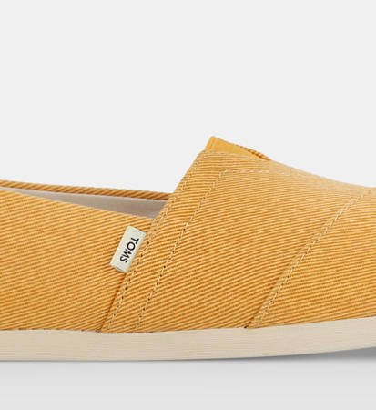 Buty Damskie Toms Eco Dyed Twill Alpargata Golden Yellow