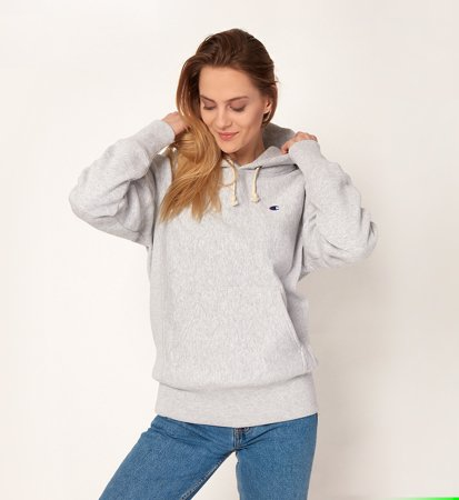 Champion Hooded Sweatshirt Melange Grey