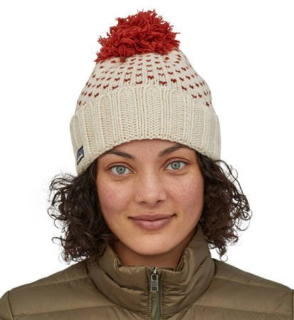 Czapka zimowa Patagonia Snowbelle Beanie Simple Dot Knit: Hot Ember