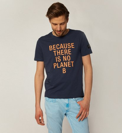 Ecoalf Natal Classic Because T-Shirt Deep Navy