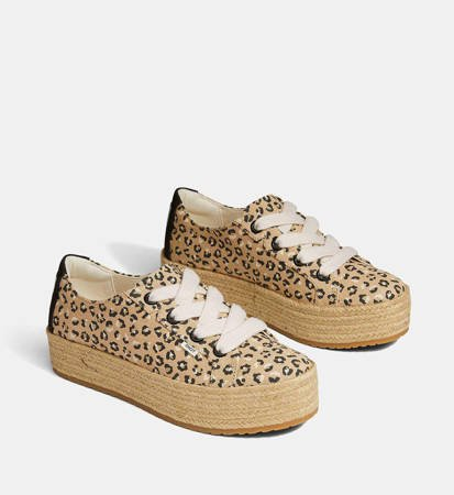 Espadryle Damskie Toms Cassiah Cheetah Natural Textured