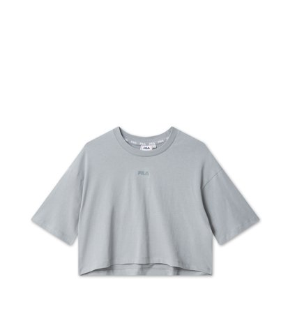 Fila Women Magola Oversized Cropped Tee Monument