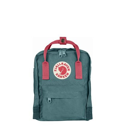 Fjallraven Kanken Mini Frost Green Peach Pink