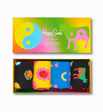 Giftbox Happy Socks Ying Yang 4-pak