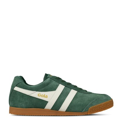 Gola Harrier Suede Evergreen Off White