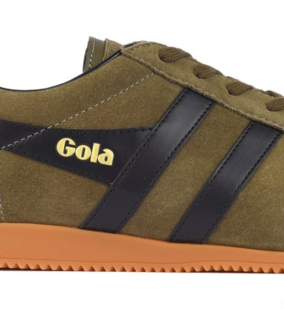 Gola Harrier Suede Khaki Black