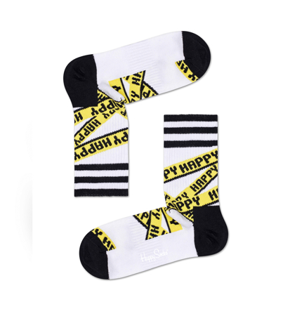 Happy Socks Athletic 3/4 Crew Taśma Happy Białe