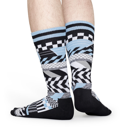 Happy Socks Athletic TV Signal Niebieskie