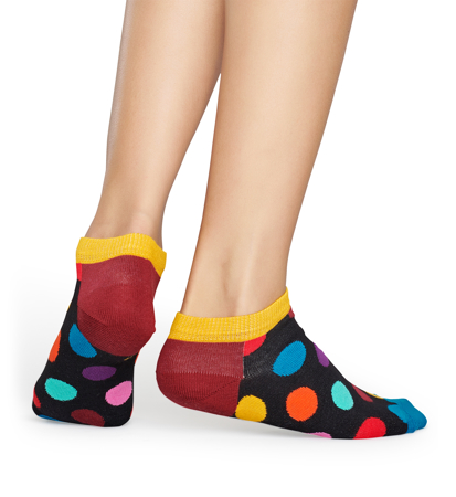 Happy Socks Big Dot Low z Czerwoną Piętą