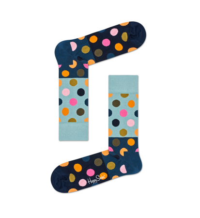 Happy Socks Big Dot Niebieski Granat Czarny