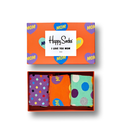 Happy Socks Giftbox I Love You Mom 3-Pack
