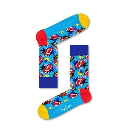 Happy Socks Rolling Stones Big Lips Stars Niebieskie