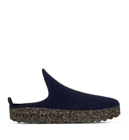 Kapcie Damskie Asportuguesas Come Navy Tweed/Black Sole