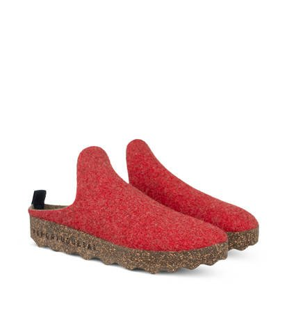 Kapcie Damskie Asportuguesas Come Red Double/Black Sole