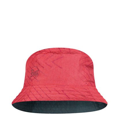 Kapelusz Buff Travel Bucket Hat Collage Red/Black