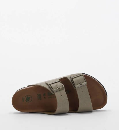 Klapki Damskie Birkenstock Arizona BFBC Earthy Vegan Faded Khaki Regular