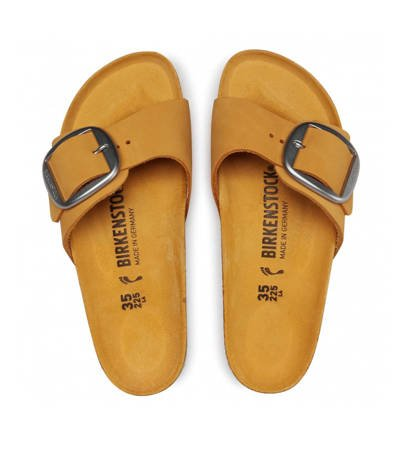 Klapki Damskie Birkenstock Madrid Big Buckle NU Apricot Narrow