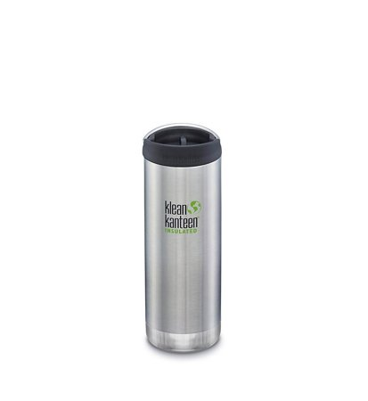 Klean Kanteen Wide Vacuum Insulated Cafe Cap 473ml Brushed Stainless