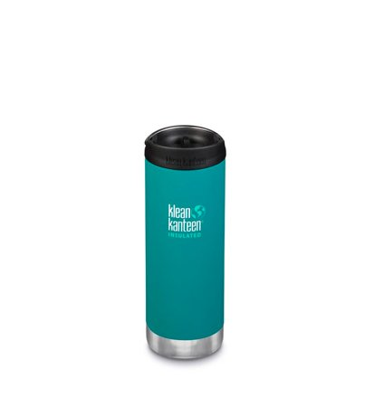 Klean Kanteen Wide Vacuum Insulated Cafe Cap 473ml Emerald Bay