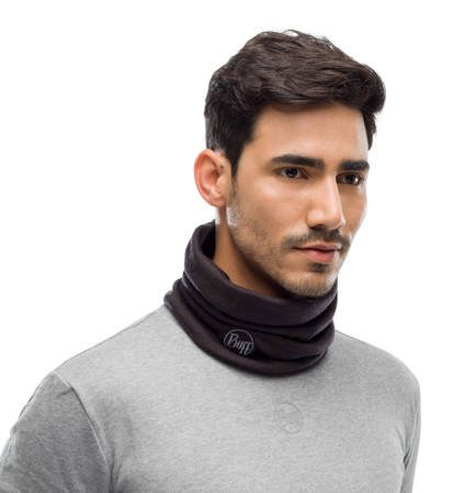 Komin Buff Merino Wool Heavyweight Solid Black