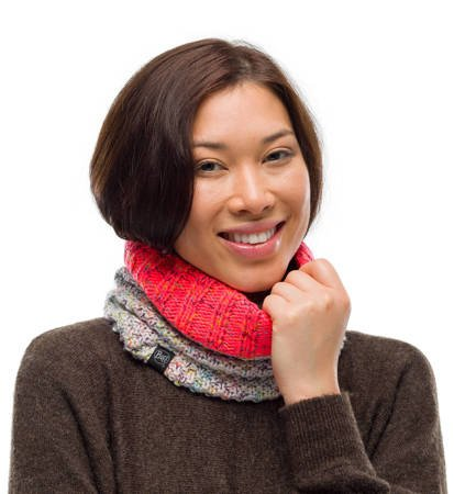 Komin zimowy Buff Knitted & Fleece Neckwarmer Janna Cloud