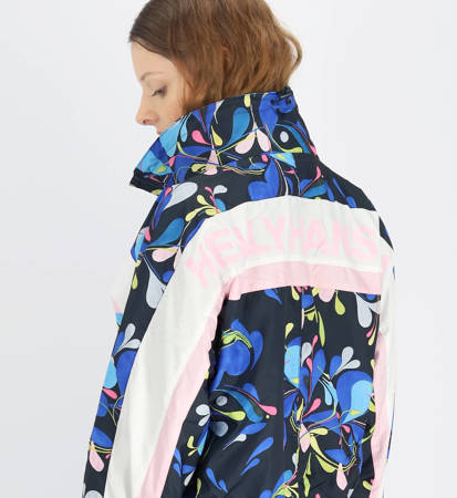 Kurtka Damska Helly Hansen Breeze Packable Wind Jacket Sling Navy Print