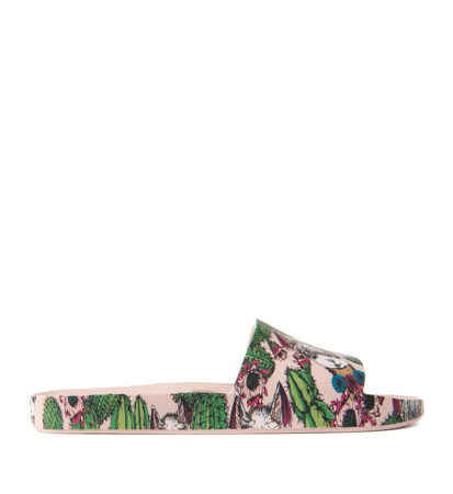 Melissa Beach Slide 3Db IV Ad Pink Green