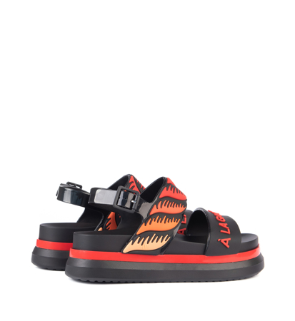 Melissa Cosmic Sandal II + A La Black Red