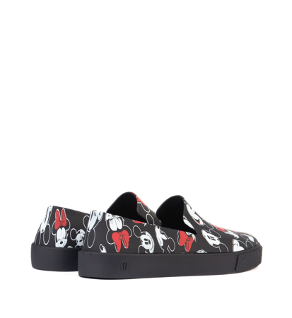 Melissa Ground + Mickey Ad Black White Red