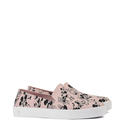 Melissa Ground + Mickey Ad Pink White Black