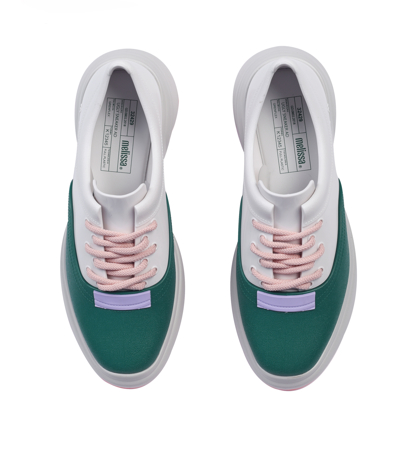 Melissa Ugly Sneaker Ad  Beige White Green