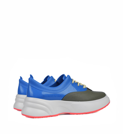 Melissa Ugly Sneaker Ad White Blue Green