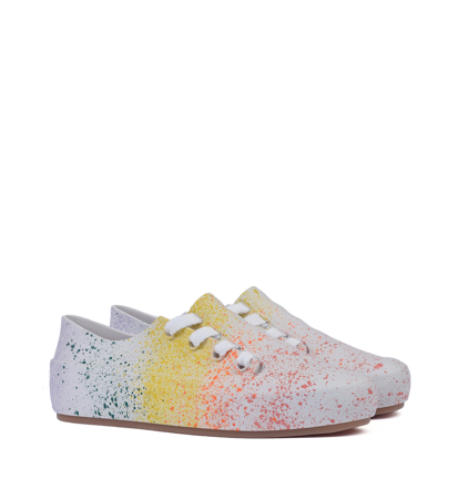 Melissa Ulitsa Sneaker Splash Ad White Orange