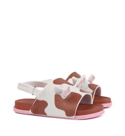 Mini Melissa Beach Slide Sandal II Bb Beige Brown Pink