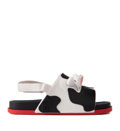 Mini Melissa Beach Slide Sandal II Bb White Black