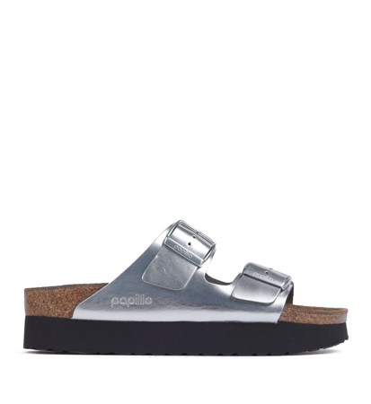 Papillio Arizona Platform Metallic Silver Narrow