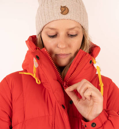 Parka Damska Fjallraven Expedition Long Down Parka True Red